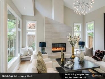 Gợi ý mẫu thiết kế nội thất chung cư 72m2 ĐẲNG CẤP, TIỆN NGHI