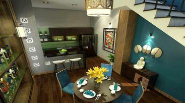 Thiết kế nội thất nhà phố anh Trung 1 trệt 1 lầu tại Gò Vấp