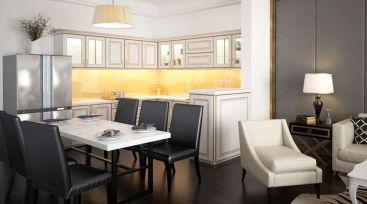 Thiết kế nội thất nhà phố thương mại Làng Sen Việt Nam tại Long An