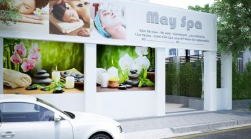 Thiết kế nội thất cửa hàng SPA tại Bình Phước