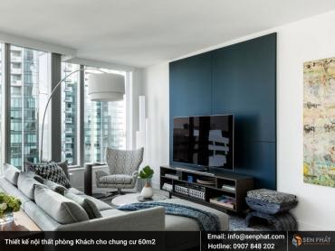 Mẫu thiết kế nội thất chung cư 60m2 được ưu chuộng nhất năm 2018