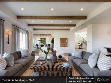 Khuyến mãi LỚN khi thiết kế nội thất chung cư 58m2 tại TPHCM