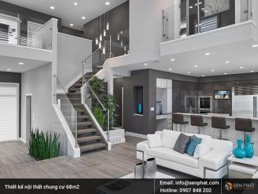 Tư vấn thiết kế nội thất chung cư 68m2 TIỆN NGHI, CAO CẤP