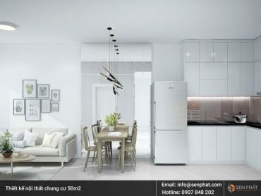 Thiết kế nội thất nhà, căn hộ cho chung cư nhỏ 50m2 tại TPHCM