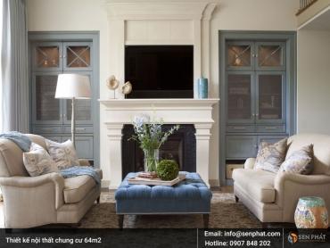 Bí quyết thiết kế nội thất chung cư 64m2 PHONG CÁCH, TIỆN NGHI, ĐẸP MẮT