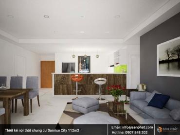 Thiết kế, thi công nội thất căn hộ, chung cư Sunrise City diện tích 112m2 Quận 7 TPHCM