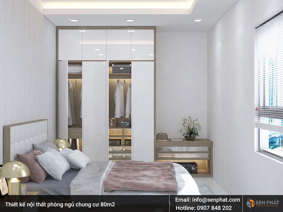 Thiết kế nội thất phòng ngủ chung cư 80m2